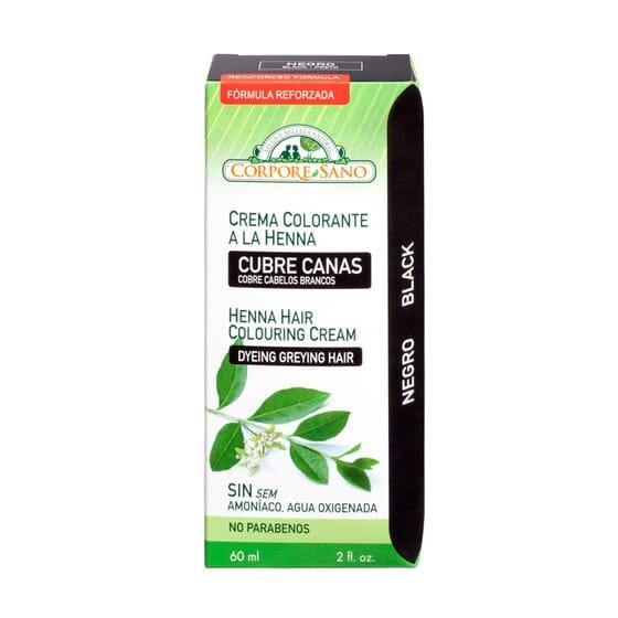 Creme Colorante Da Henna Semi-Permanente Preto 60 ml da Corpore Sano