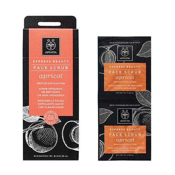 Apivita Express Beauty Gel Exfoliant Visage Doux à l'Abricot