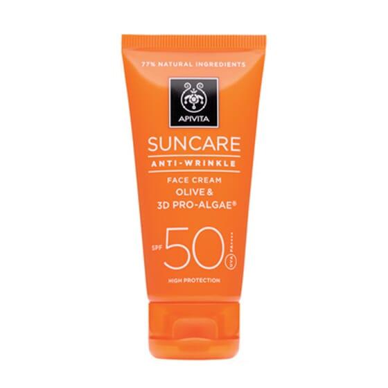 Crema Solare Viso Antirughe SPF 50 50 ml de Apivita