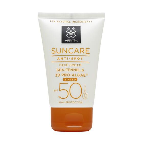 Crema Solare Viso Antimacchie Colorata SPF50 50 ml de Apivita