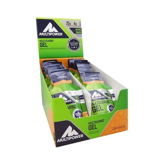 Multicarbo Gel Isomaltulose 24 x 40 g - Multipower - Gel énergétique