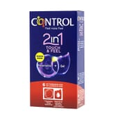 CONTROL TOUCH AND FEEL 2 IN 1 PRESERVATIVO + GEL 6 Ud