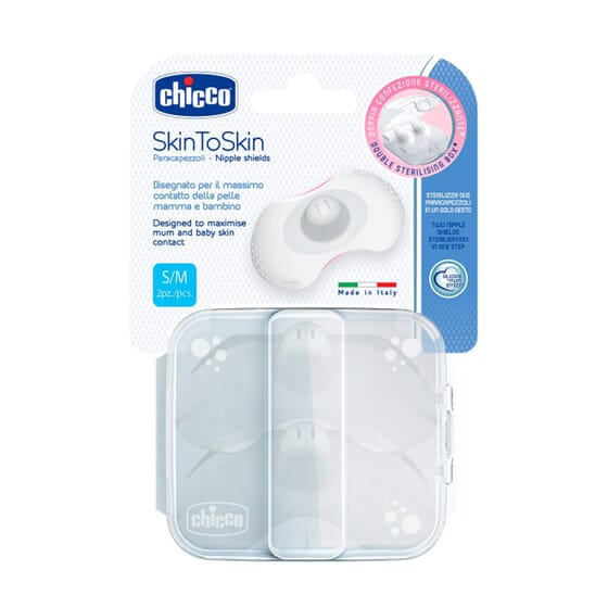 Protege Mamilo Skin To Skin Silicone S/M 2 Un da Chicco