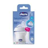 BIBERÓN NATURAL FEELING SILICONA FLUJO NORMAL 0M+ BLANCO 150ml de Chicco