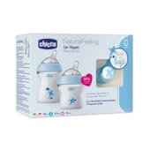Set Oferta Natural Feeling Silicone Azul 0M+ 1 Pack da Chicco