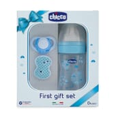 Set Primer Presente Well Being Silicone Azul 0M+ 1 Pack da Chicco