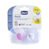 Chicco Sucette Physio Micro Silicone 0-2 M Rose 2 Unités