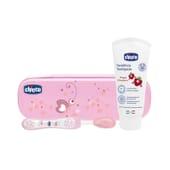 Set De Higiene Oral Primeiros Dentes Rosa 12M+ 1 Pack da Chicco
