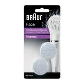 Braun Recambios Face Brush Normal 2 Uds de Braun