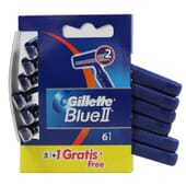GILLETTE BLUE II 5 pcs + 1 pc OFFERT 6 pcs