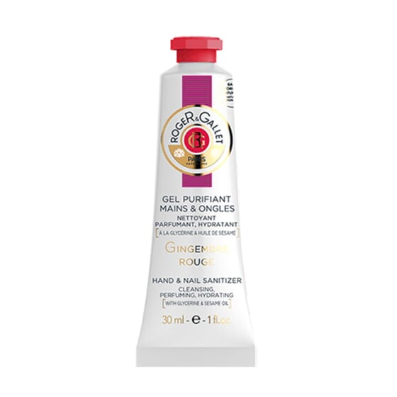 GEL PURIFIANT MAINS ET ONGLES GINGEMBRE ROUGE 30 ml