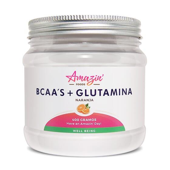 BCAA + GLUTAMINE 400 g d'Amazin' Foods
