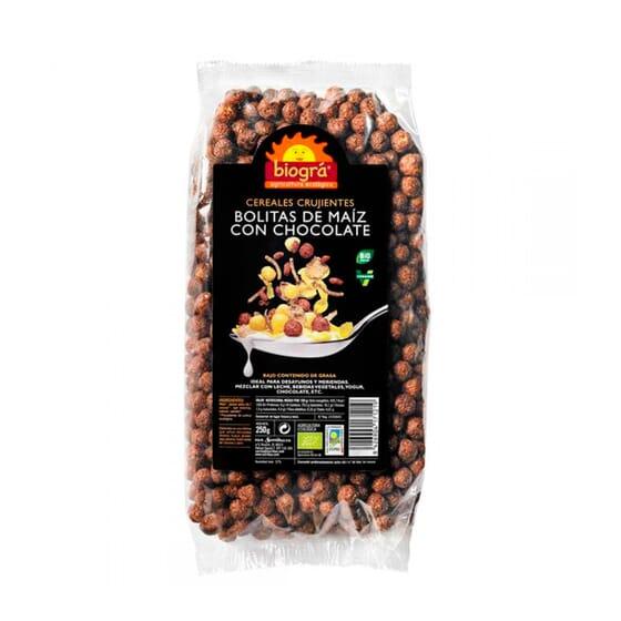 Bolinha de Milho com Chocolate Bio 250g de Biogra