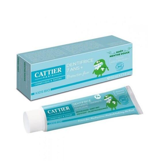 Cattier Dentifrice pour Enfants 7 Ans + Bio 50 ml - Goût menthe douce