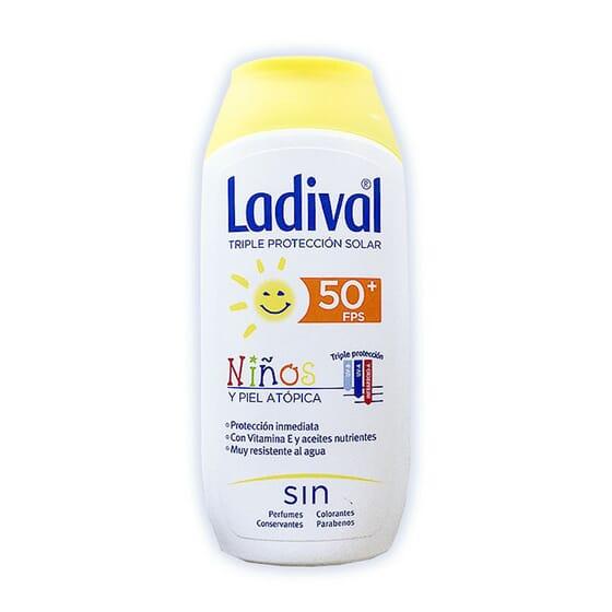 Protettore Solare Per Bambini E Pelli Atopiche SPF50+ 200 ml di Ladival