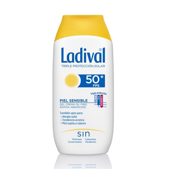 Gel-Crema Protettore Pelli Sensibili Rapido Assorbimento SPF50+ 200 ml di Ladival