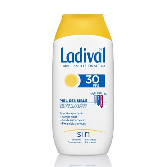 Gel-Crema Protettore Pelli Sensibili Rapido Assorbimento SPF30 200 ml di Ladival