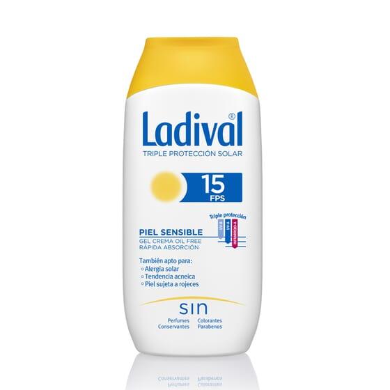Gel-Crema Protettore Pelli Sensibili Rapido Assorbimento SPF15 200 ml di Ladival