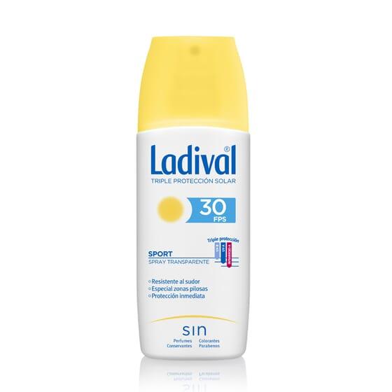 Sport Spray Trasparente Protettore SPF30 150 ml di Ladival