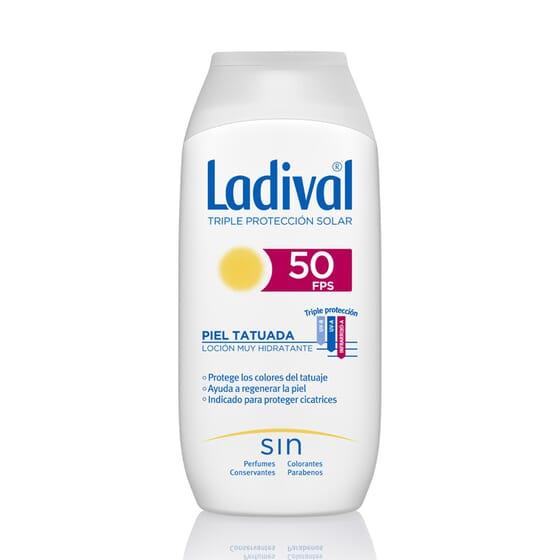 LOTION PROTECTRICE PEAUX TATOUÉES SPF50 200 ml Ladival