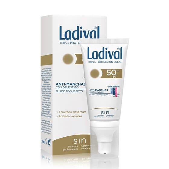 Fluido Protettore Antimacchie Tocco Secco SPF50+ 50 ml di Ladival