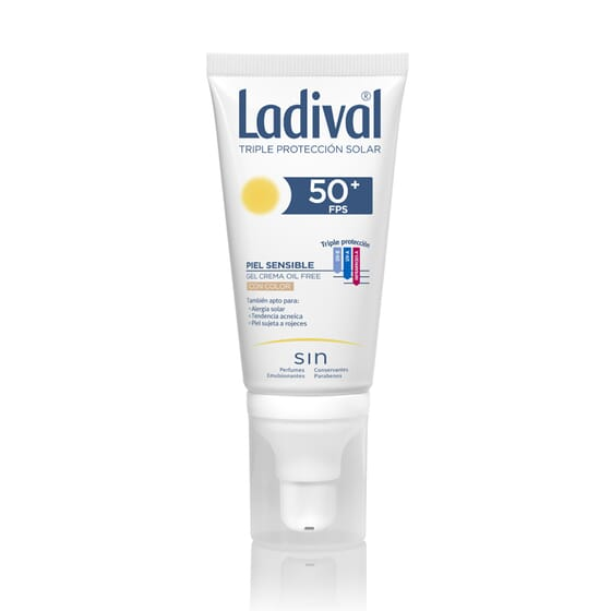 Gel-Crema Protettore Colorato Pelli Sensibili SPF50+ 50 ml di Ladival