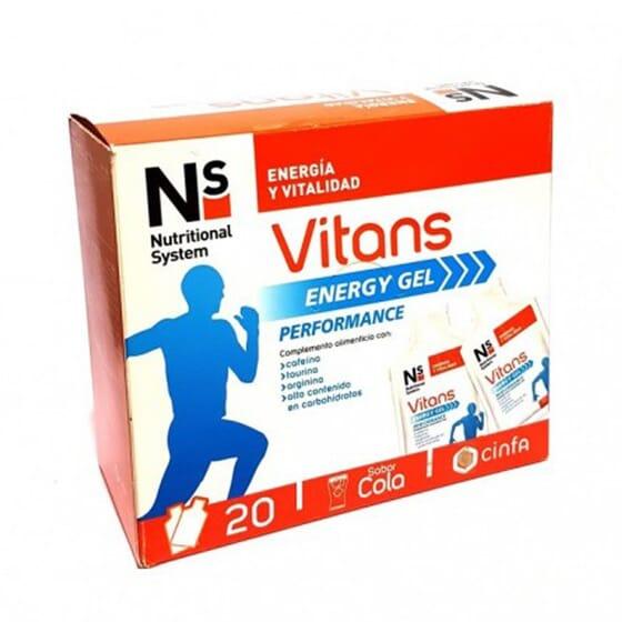 NS VITANS SPORT ENERGY GEL 20 Geles de 40g