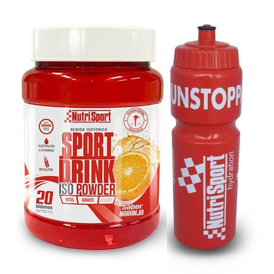 Sport Drink Iso Powder + Garrafa 1120g da NutriSport