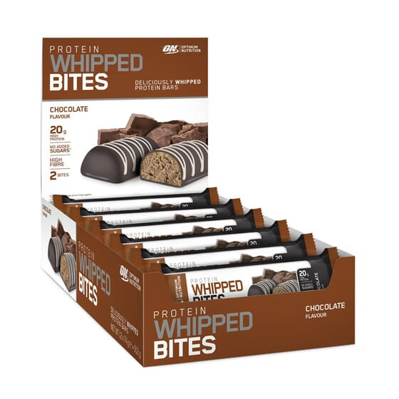 PROTEIN WHIPPED BITES 12 Barritas de 76g de Optimum Nutrition