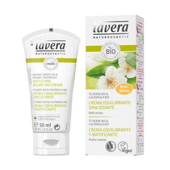 Crema Equilibrante e Opacizzante Tè Verde 50 ml di Lavera