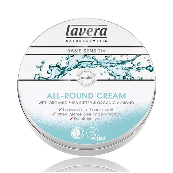 Crema Idratante per Viso e Corpo Basis Sensitiv 150 ml di Lavera