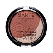 MAQUILLAJE POLVO BRONCEADOR 2 EN 1 01 LIGHT-MEDIUM 9g de Sante.
