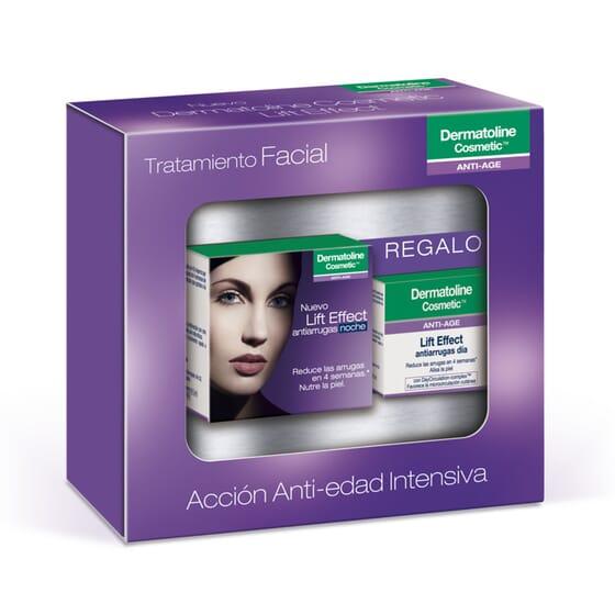 KIT FACIAL LIFT EFFECT ANTIARRUGAS NOCHE 50ml + SÉRUM REPARADOR 8ml de Dermatoline Cosmetic