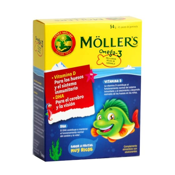 MOLLERS GOMINOLAS OMEGA 3 45 Gominolas