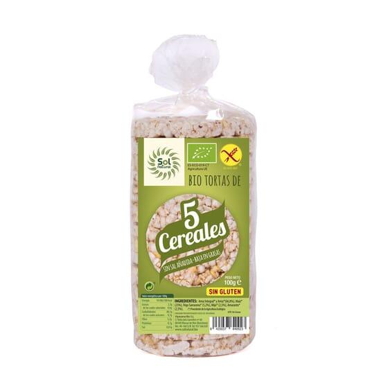 TORTAS DE 5 CEREALES BIO 100g de Sol Natural