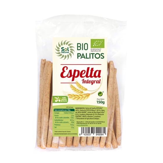 PALITOS DE ESPELTA INTEGRAL BIO 150g de Sol Natural