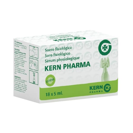 SUERO FISIOLÓGICO 18 Ud de 5ml de Kern Pharma