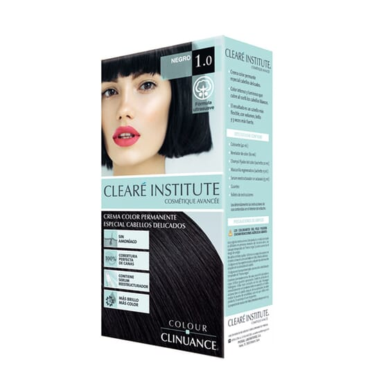 COLOUR CLINUANCE TINTE CABELLO DELICADO 1.0 NEGRO 170ml de Clearé Institute