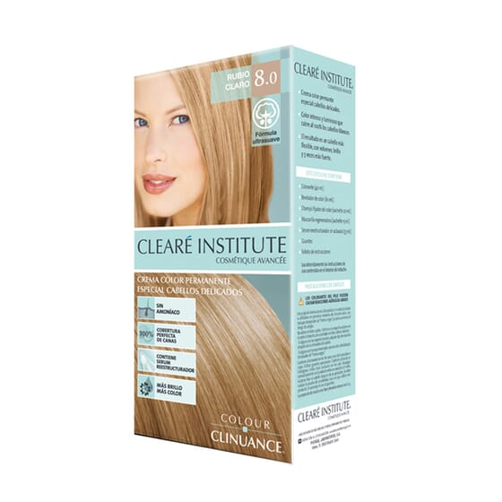 Colour Clinuance Tinta Cabelo Delicado 8.0 Loiro Claro 170 ml da Cleare Institute