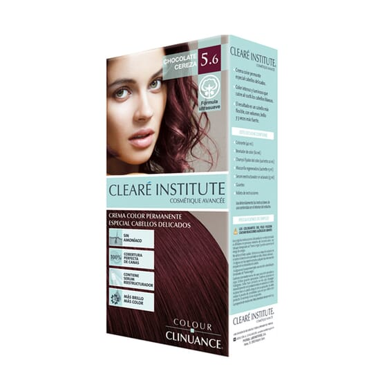 Colour Clinuance Teinture Cheveux Délicats 5.6 Chocolat Cerise 170 ml - Clearé Institute