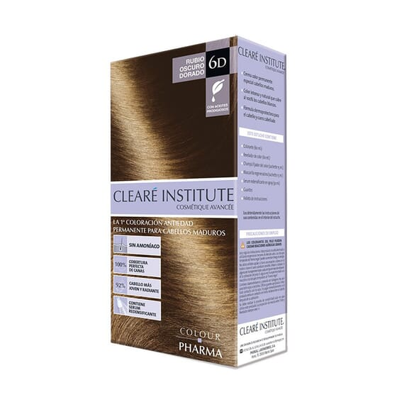 COLOUR PHARMA TINTE ANTIEDAD 6D RUBIO OSCURO DORADO 180ml de Colour Pharma
