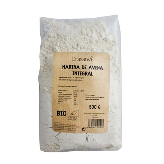 HARINA DE AVENA INTEGRAL BIO 500g de Drasanvi