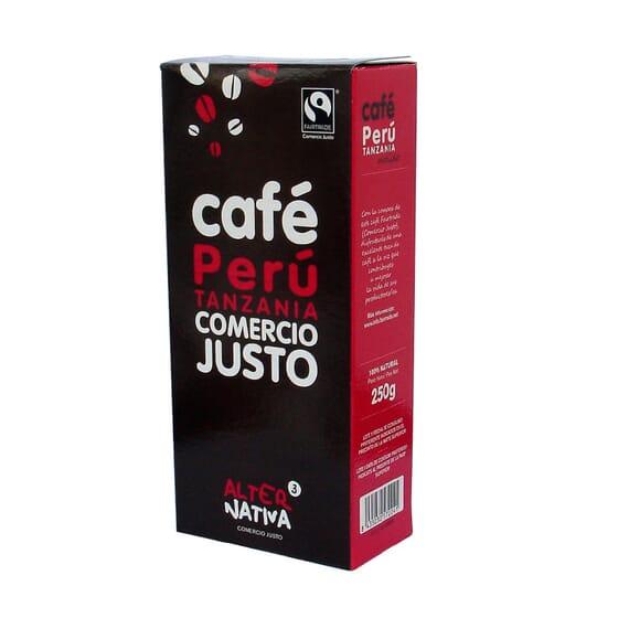 CAFÉ MOLIDO PERÚ TANZANIA 250g de Alternativa 3