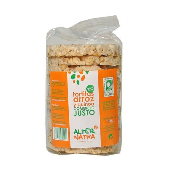 TORTITAS DE ARROZ Y QUINOA BIO 110g de Alternativa 3