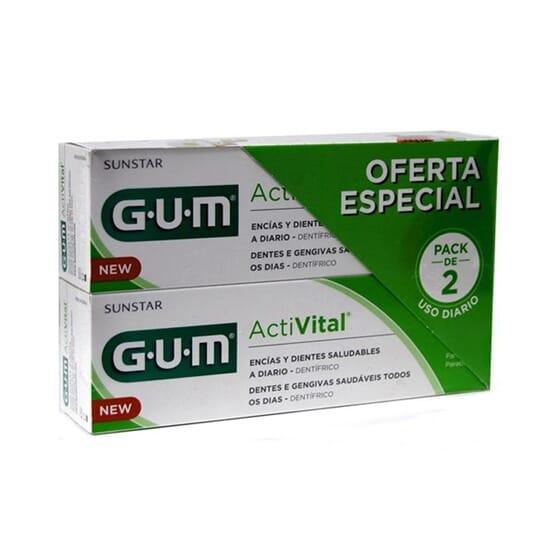 GUM ACTIVITAL Q10 PASTA DENTÍFRICA DUPLO 2 Ud 75ml