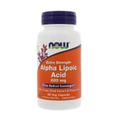ACIDE ALPHA-LIPOÏQUE 600 mg 60 VCaps de Now Foods