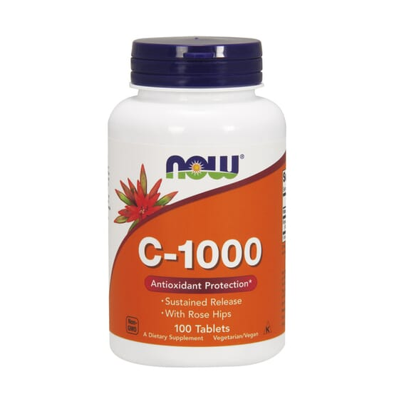 C-1000 CON ESCARAMUJO 100 Tabs de Now Foods