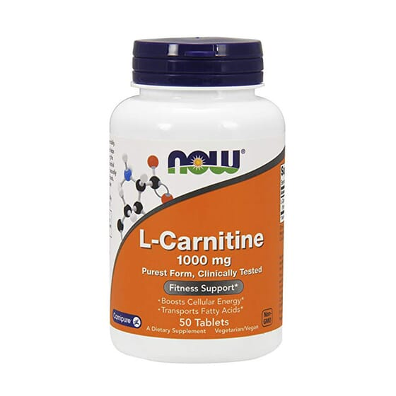 L-CARNITINE 1000mg 50 Tabs de Now Foods
