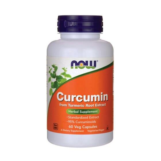 CURCUMINA 95% TURMERIC 60 VCaps de Now Foods