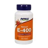 NATURAL E-400 100 Perlas de Now Foods